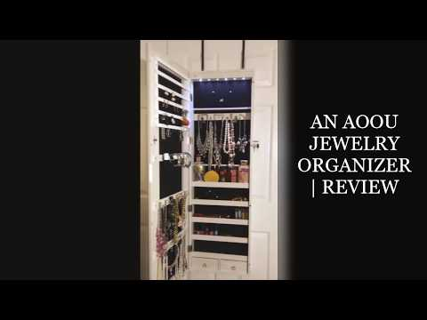 AN: AOOU JEWELRY ORGANIZER  REVIEW & 50% OFF COUPON CODES...