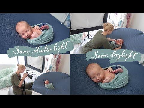 Newborn Photoshoot - Natural DAYLIGHT Versus Studio Light (SPEEDLITE SOFTBOX) Baby Photography