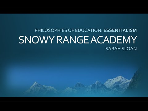An Essentialist Approach to Teaching & Learning at Snowy Range Academy