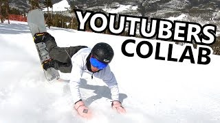 YouTubers Collab Snowboard Video in Keystone Colorado