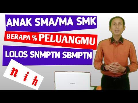 Peluang Lolos SNMPTN SBMPTN Anak SMK Dan SMA/MA Lintas Jurusan