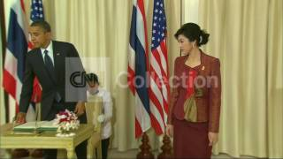 THAILAND:OBAMA/CLINTON PHOTO OP WITH THAI PM