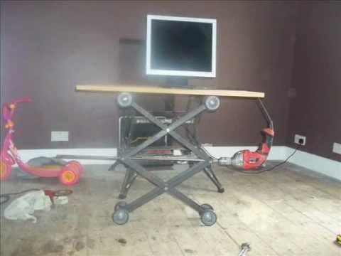 homemade tv monitor lift mechanism part onethe photos