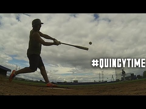Quincy Amarikwa takes on the Home Run Derby | #QuincyTime