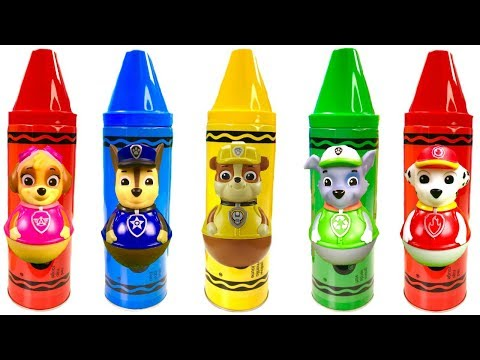 Thumbnail: Paw Patrol Learn Colors Crayons Surprise Toys Play Doh Video for Children | Fizzy Fun Toys