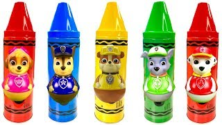 Paw Patrol Learn Colors Crayons Surprise Toys Play Doh Video for Children | Fizzy Fun Toys