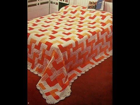 Crochet Patterns For Free Vintage Crochet Bedspread 1308 Youtube