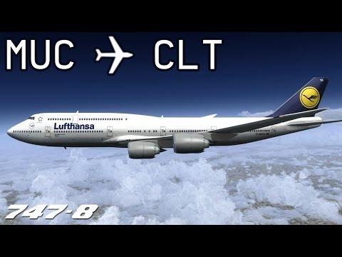 [FSX] Munich to Charlotte | DLH428 | Lufthansa | PMDG 747-8X | IVAO