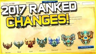 SEASON 7 RANKED CHANGES!!   League of Legends