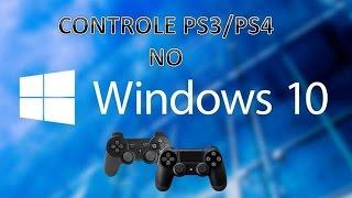 Como Conectar/Configurar controle PS3/PS4 no Windows 8.0/8.1/10