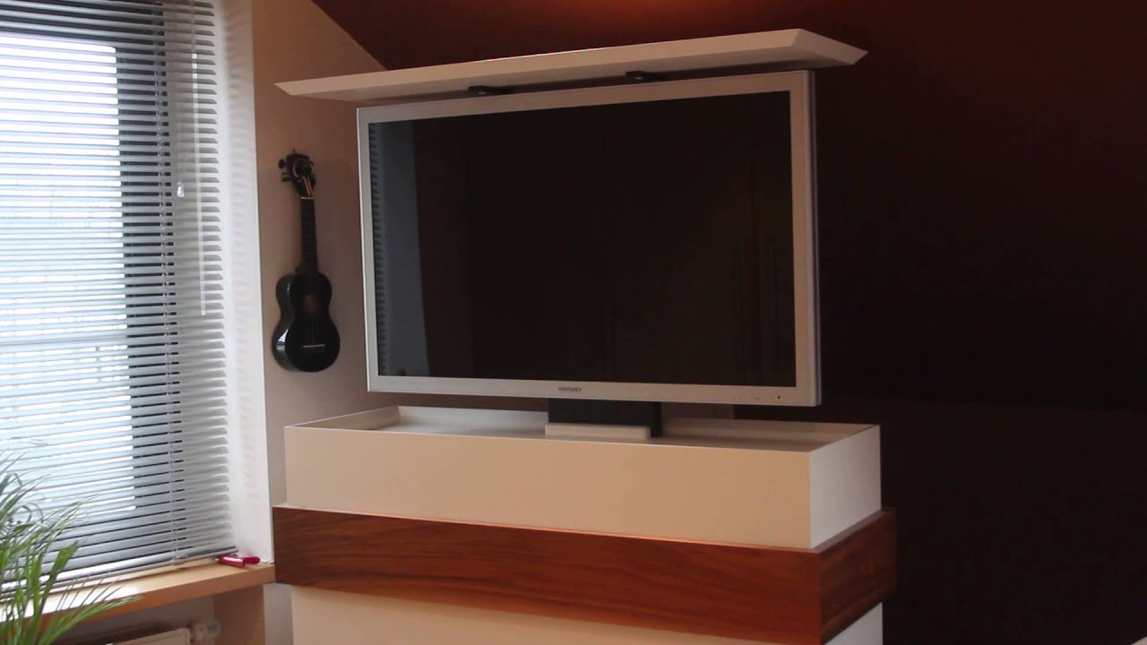 einzelst ck tv hifi schrank f r 42 fernseher youtube. Black Bedroom Furniture Sets. Home Design Ideas