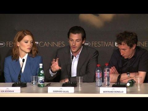 """Cannes: conférence de presse du film """"Saint Laurent"""""""