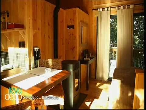 la cabane au bord du lac biscarrosse reportage teva deco youtube. Black Bedroom Furniture Sets. Home Design Ideas