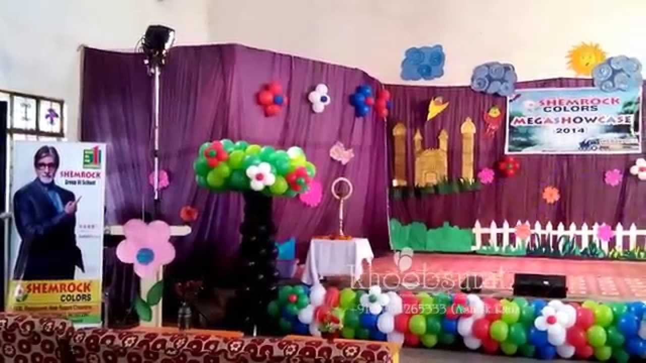 stage decoration for school annual function