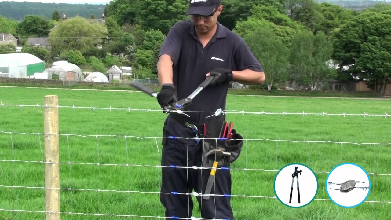 Repairing Barbed Wire Gripple Barbed Youtube