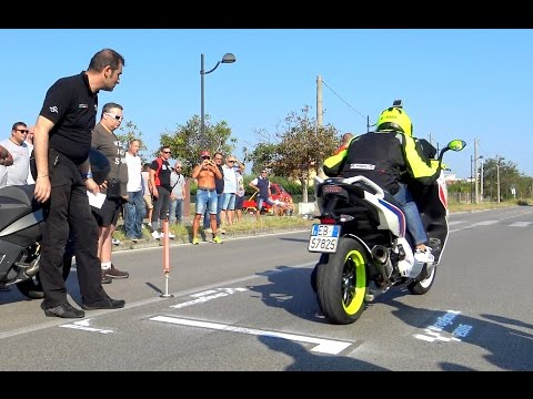 T-Max TURBO Vs GP 800 Vs ALL BIKERS 0-200 mt (VIDEO 4K)