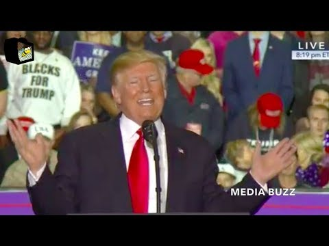 Trump Makes Fun of Maxine Waters Trying to Impeach Him At Michigan Rally 4/28/18