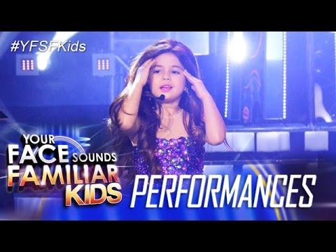 Your Face Sounds Familiar Kids: Xia Vigor as Selena Gomez - YouTube