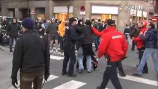Europa League 2012: Graves incidentes antes del Athletic - Lokomotiv