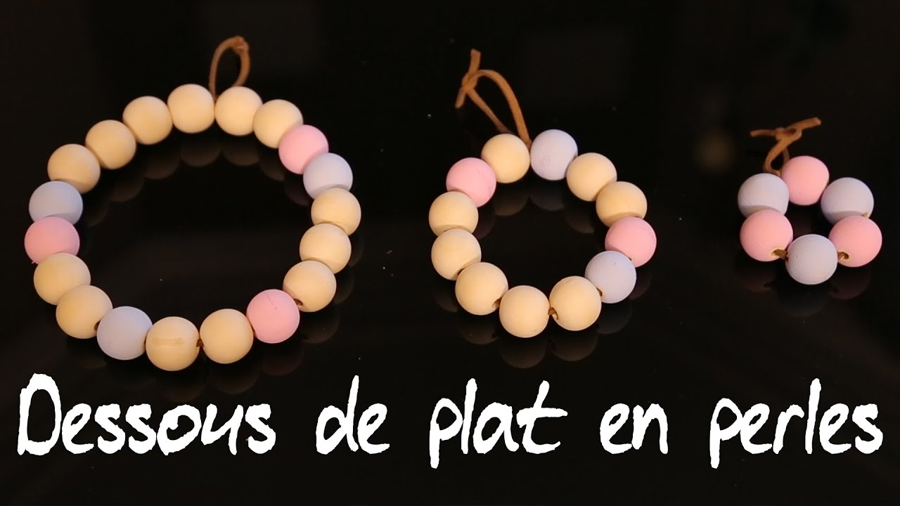 Work in progress cr er un dessous de plat en perles de bois youtube - Dessous de plat en bois ...