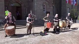 "Clann an Drumma, Scottish tribal pipes & drums play ""fingers"" live at Scone Palace, Scotland"