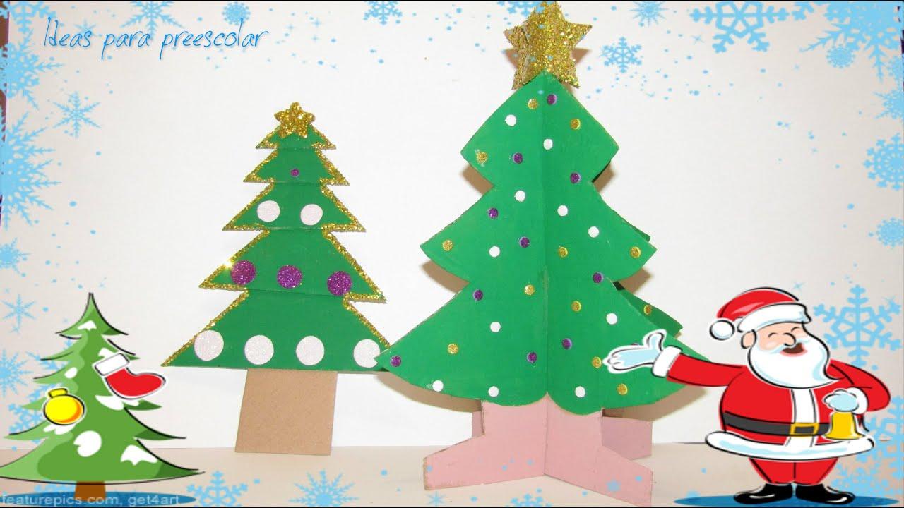 Manualidad para ni os arbolitos de navidad youtube - Manualidad ninos navidad ...
