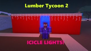 Icicle Lights!! ¡TAN BONITO! ROBLOX: Tycoon de Madera 2