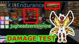 We met Jughead (#1 Endurance) On power Sim and tested damage -Roblox