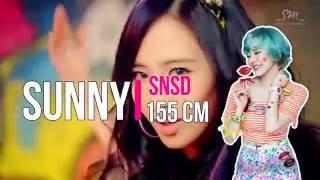 top 15 kpop girl groups tallest and shortest member