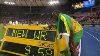100M Berlino 2009 Usain Bolt 9.58 WR ITA Rai Due