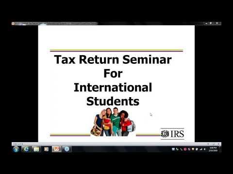 International Students - Tax Return Seminar