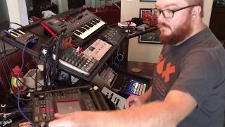 Hardware synthesizer improvised jam