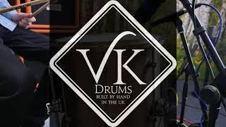 VK Drums Cast Bronze Tom set sound examples with remo emporor clear, black suedes, ambassador heads