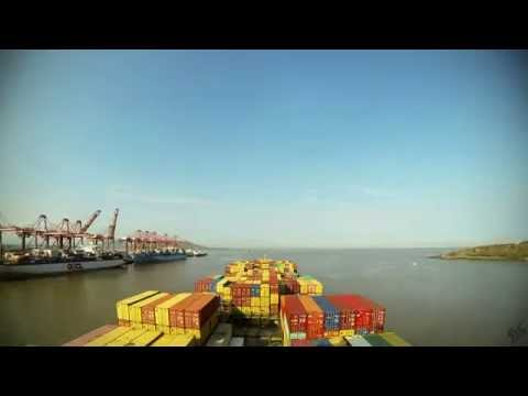 Time-lapse (120x): departure Nhava Sheva (Mumbai, India) [4K/ UHD, 60fps]