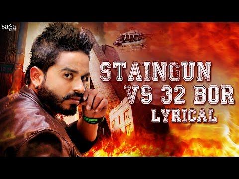 Staingun vs 32 Bor - Damanjot - Lyrical Video - Latest Punjabi Songs 2016