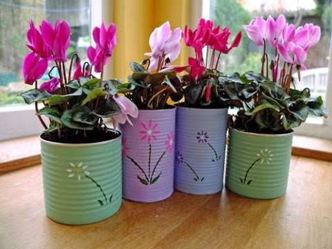 Garden design ideas make a flower pot garden at home for Flower making at home