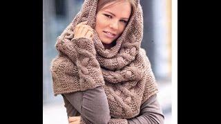 Самый модный шарф капюшон