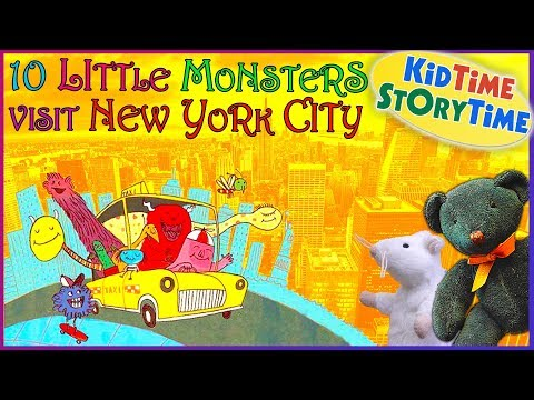 10 Little Monsters Visit New York City | Story Book for Kids