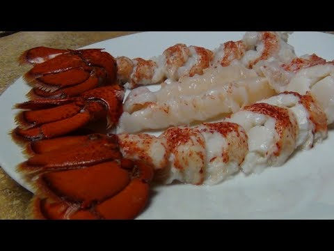 How to boil lobster tails.