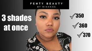 I FINALLY found my Fenty shade! 350, 360, and 370 swatches and try on! | JustJali