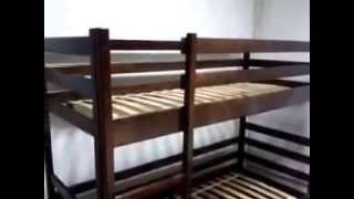 Кровать двухъярусная из натурального дерева 096 103 23 28