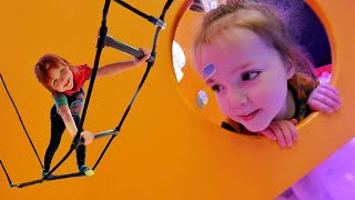 BALL PiT PARK!!  Ultimate obstacle course challenge with Adley & Niko! playing Hide N Seek inside