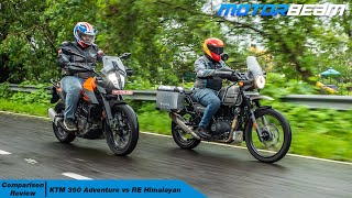 KTM 390 Adventure vs RE Himalayan - The Right Adventure To Buy? | MotorBeam