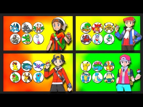 pokemon owned by every male game protagonist from the anime youtube