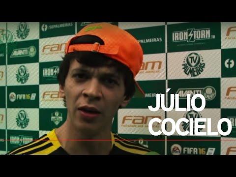 Júlio Cocielo, do Canal Canalha, no Palmeiras Game Day
