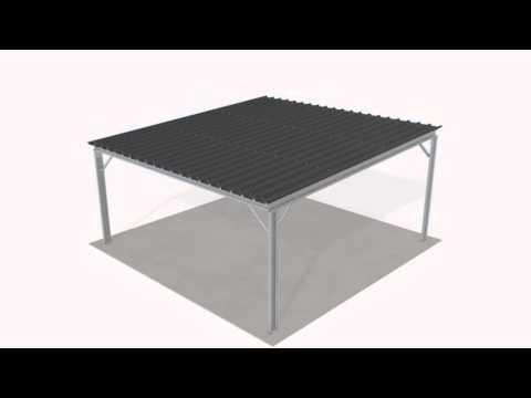 vid o de montage abri kit option bardage youtube. Black Bedroom Furniture Sets. Home Design Ideas