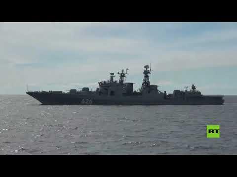 تحضيرا للعرض البحري الكبير.. سفن من الأسطول الشمالي الروسي تصل إلى المياه القريبة من بطرسبورغ