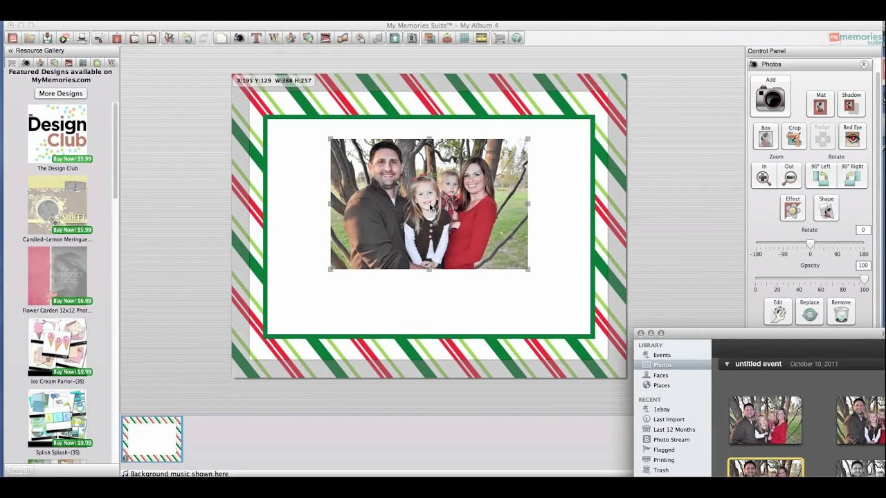 how to make custom invitations and cards using my memories