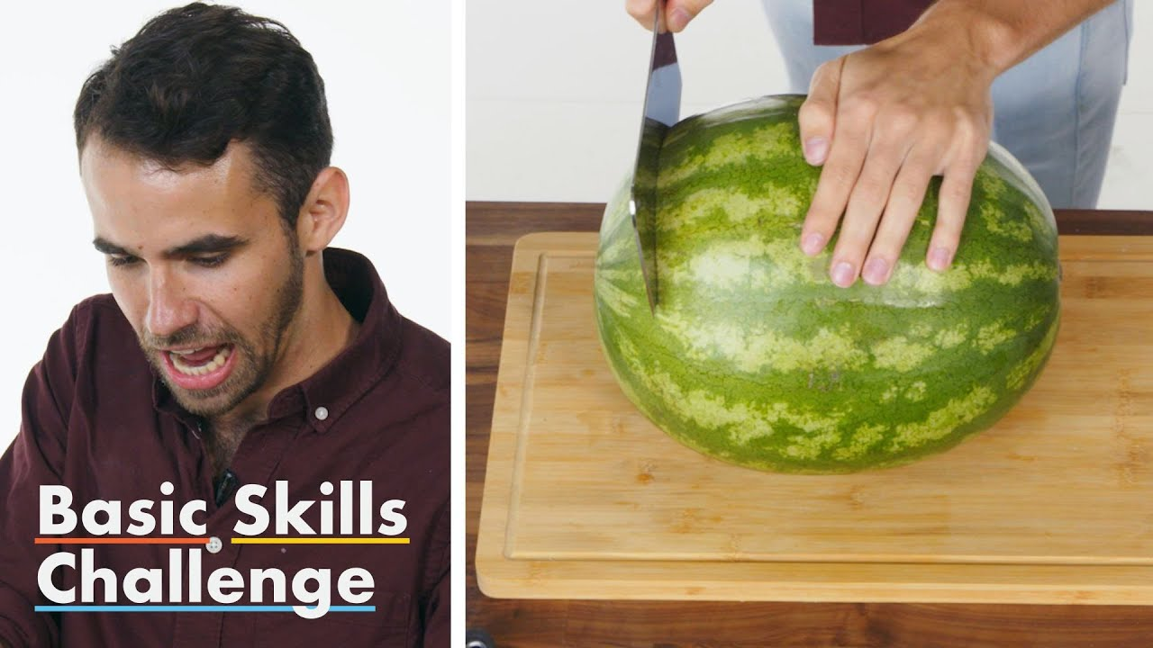 50 People Try To Cut A Watermelon Epicurious