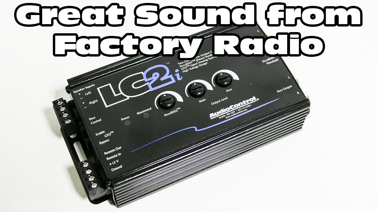 lc2i - add a subwoofer amplifier to a factory audio system - line output  converter